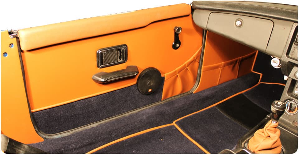 The door panels also feature carpet along the bottom that matches the interior carpet ... & MGB Carpet Set Seat Covers Trim Panels Interior Trim Package 1973 ...
